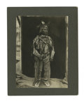 Western Expansion:Indian Artifacts, Fantastic Imperial Size Photograph of Nez Perce/Umatilla Indian,ca.1890s....