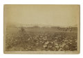Photography:Cabinet Photos, Large Format Albumen Photograph of Baseball Game Rapid City, DakotaTerritory ca 1880s. ...