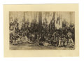 Military & Patriotic:Indian Wars, Photograph of Large Group of Sioux Indians, ca. 1880s. ...