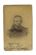 Military & Patriotic:Indian Wars, Signed Cabinet Card Photograph of General George Crook, 1882. ...