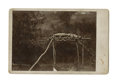 Western Expansion:Indian Artifacts, Native American Indian Burial Site Photograph, ca. 1880s....