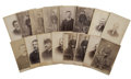 """Military & Patriotic:Indian Wars, Lot of 16 Cabinet Card Photographs, Eight of 6th Cavalry Company """"D"""", ca. 1880s.... (Total: 16 Items)"""