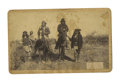 Military & Patriotic:Indian Wars, Geronimo & Natches on Horse Back, C. S. Fly, Tombstone, Arizona Territory, Cabinet Card ca 1886. ...