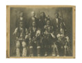 Photography:Cabinet Photos, Large Size Photograph of Nez Perce Indian Chiefs Wearing Peace Medals, ca. 1890s....