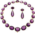 Estate Jewelry:Suites, Victorian Amethyst, Gold Demi-Parure. ... (Total: 3 Items)