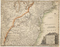 Miscellaneous:Maps, Early 1754 Map of The American Plantations Commissioned By KingGeorge...