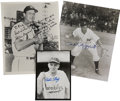 "Autographs:Photos, Vintage Baseball Stars Signed Photographs Lot of 3. Hall of FamersPhil Rizzuto and Stan Musial have each signed an 8x10"" p..."