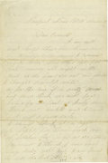 Autographs:Military Figures, Civil War Soldiers' Letters - Group of fifteen letters by Civil Warsoldiers, including four original transmittal covers: ... (Total:15 )