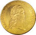 Austria: , Austria: Austrian Netherlands. Franz II gold Souverain d'Or 1793A, KM64, MS63 NGC, nicely toned example with just a wisp of light adj...