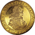 Austria: , Austria: Ferdinand III gold 10 Ducats 1656 Vienna, KM996, Friedberg 209, AU-UNC with extremely sharp design features, tooled long ago...