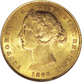 Australia: , Australia: Victoria gold Sovereign 1868, KM4, MS60 NGC, a nicefully lustrous coin with a minimum of contact marks for thisdesignation...