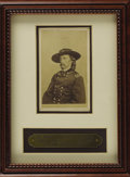 Military & Patriotic:Civil War, Major General George A. Custer Carte De Visite, by Matthew Brady & Co., published by Beers & Mansfield, May, 1865. Fram...