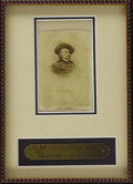 Military & Patriotic:Civil War, Major General George A. Custer Carte De Visite, after the original by John Goldin & Co., May, 1865. Framed with a custom...