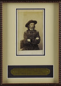 Military & Patriotic:Civil War, Major General George A. Custer Carte De Visite, by Matthew Brady & Co., Washington, D.C., May, 1865. Framed with a custo...