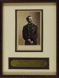 Military & Patriotic:Civil War, Brigadier General George A. Custer Carte De Visite, by Matthew Brady & Co., New York, February 1864. Taken shortly after...