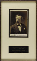 "Military & Patriotic:Civil War, George Armstrong Custer in Civilian Dress Cabinet Card. Photographer: Jose Mora, New York. A cabinet card, 4.25"" x 6.5"",..."