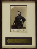 Military & Patriotic:Civil War, Major General George A. Custer Carte De Visite, by Matthew Brady & Co., New York, January 3, 1865. Framed with a custom...