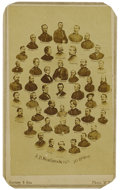 """Photography:CDVs, Carte de Visite With 39 Union Generals Including Custer, Grant, and Sherman, 2.5"""" x 4"""". The CDV also includes Presid..."""