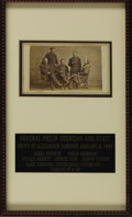 Military & Patriotic:Civil War, General Philip Sheridan and Staff Carte De Visite with Unpublished Image of Custer by Alexander Gardner. January 2, ...
