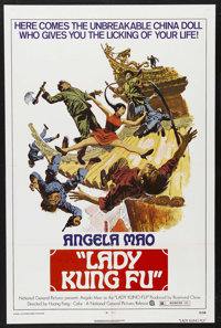 "Lady Kung Fu (National General, 1973). One Sheet (27"" X 41""). Martial Arts. Starring Angela Mao, Carter Wong..."