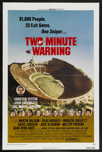 "Two-Minute Warning (Universal, 1976). One Sheet (27"" X 41""). Thriller. Starring Charlton Heston, John Cassavet..."