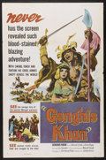 "Movie Posters:Historical Drama, Genghis Khan (United Artists, 1953). One Sheet (27"" X 41"").Historical Drama. Starring Manuel Conde, Elvira Reyes, Lou Salva..."