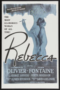 """Movie Posters:Hitchcock, Rebecca (United Artists, R-1960s). One Sheet (27"""" X 41"""").Mystery/Hitchcock. Starring Laurence Olivier, Joan Fontaine,Judit..."""