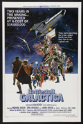 "Movie Posters:Science Fiction, Battlestar Galactica (Universal, 1978). One Sheet (27"" X 41"").Science Fiction. Starring Richard Hatch, Dirk Benedict, Lorne..."