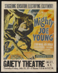 "Movie Posters:Adventure, Mighty Joe Young (RKO, 1949). Jumbo Window Card (22"" X 28"").Adventure. Starring Terry Moore, Ben Johnson, Robert Armstrong ..."