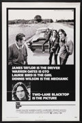 "Movie Posters:Drama, Two-Lane Blacktop (Universal, 1971). One Sheet (27"" X 41""). Drama.Starring James Taylor, Warren Oates, Laurie Bird and Denn..."