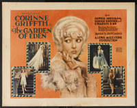 "The Garden of Eden (United Artists, 1927). Half Sheet (22"" X 28""). Comedy. Starring Corinne Griffith, Lowell S..."