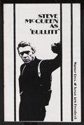 "Movie Posters:Action, Bullitt (Warner Brothers, 1968). Pressbook (11"" X 17""), (MultiplePages). Action Thriller. Starring Steve McQueen, Robert Va..."