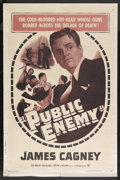 """Movie Posters:Crime, The Public Enemy (Warner Brothers, R-1954). One Sheet (27"""" X 41""""). Crime. Starring James Cagney, Jean Harlow, Joan Blondell ..."""