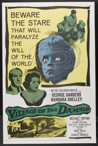 "Village of the Damned (MGM, 1960). One Sheet (27"" X 41""). Horror. Starring George Sanders, Barbara Shelley, Mi..."