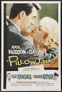 "Pillow Talk (Universal, 1959). One Sheet (27"" X 41""). Comedy. Starring Rock Hudson, Doris Day, Tony Randall an..."