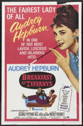 """Movie Posters:Romance, Breakfast At Tiffany's (Paramount, R-1965). One Sheet (27"""" X 41"""").Romance. Starring Audrey Hepburn, George Peppard, Patrici..."""