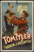 "Movie Posters:Adventure, Honor of the Mounted (Monogram, 1932). One Sheet (27"" X 41"").Adventure. Starring Tom Tyler, Stanley Blystone, Francis McDon..."