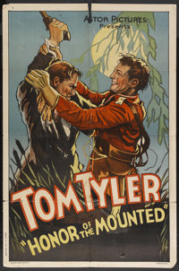 "Honor of the Mounted (Monogram, 1932). One Sheet (27"" X 41""). Adventure. Starring Tom Tyler, Stanley Blystone..."