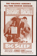 "Movie Posters:Crime, The Big Sleep (Warner Brothers, R-1954). One Sheet (27"" X 41"").Crime. Starring Humphrey Bogart, Lauren Bacall, John Ridgely..."