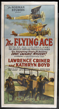 "The Flying Ace (Norman, 1926). Three Sheet (41"" X 81""). War Adventure. Starring Lawrence Criner, Kathryn Boyd..."