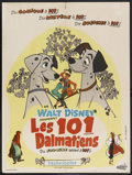 "Movie Posters:Animated, 101 Dalmatians (Buena Vista, 1961). French Petite (23.5"" X 31.5"").Animation. Starring the voices of Rod Taylor, J. Pat O'Ma..."