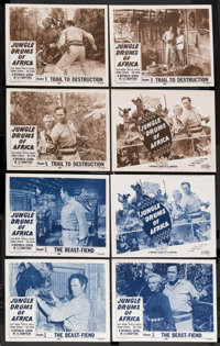"""Jungle Drums of Africa (Republic, 1953). Lobby Card Sets of 4 (2) (11"""" X 14"""") Chapter 3 -- """"The Beast-Fie..."""