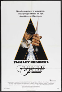 "A Clockwork Orange (Warner Brothers, 1971). One Sheet (27"" X 41"") X-Rated Style. Science Fiction. Starring Mal..."
