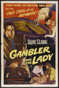 "Movie Posters:Crime, The Gambler and the Lady (Lippert, 1952). One Sheet (27"" X 41""). Crime. Starring Dane Clark, Naomi Chance, Meredith Edwards,..."
