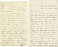 "Autographs:Military Figures, George Meade Civil War Dated Autograph Letter Signed ""Geo. G. Meade Maj Genl"". One page, 5"" x 8"", Head-Quarters, Army of..."