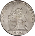 Austria: , Austria: Austrian Netherlands. Insurrection coinage Lion d'Argent(3 Gulden) 1790, KM50, AU55 NGC, an attractive blend of light gray...