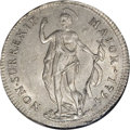 Italy:Genoa, Italy: Genoa. Biennial Doges 1 Lira 1794, KM211a, CNI 8, MS64 NGC.Lustrous and bright with light contact marks. Very scarce in thi...