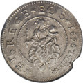 Italy:Genoa, Italy: Genoa. Biennial Doges,(1637-1797), Half-Scudo, 1676 ILM,Madonna and Child in clouds/Cross with stars in angles, KM81.1,(L...