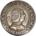 Italy:Milan, Italy: Milan. Galeazzo Maria Sforza Teston ND (1468-1476), Bustright with annulet behind/Helmet with chimera, buckets and G3-M in...