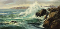Fine Art - Painting, Russian:Modern (1900-1949), CONSTANTIN ALEKSANDROVICH WESTCHILOFF (1877-1945). RockySeascape. Oil on canvas. 20 x 40 inches (50.8 x 101.6 cm).Sign...